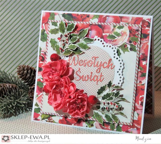 Rosy Cosy Christmas - kartka świąteczna