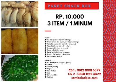 harga snack box yang terkenal di Serpong