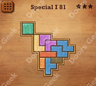 Cheats, Solutions, Walkthrough for Wood Block Puzzle Special I Level 81
