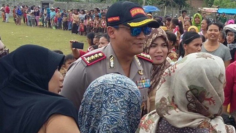 Wakapolda Lampung, Krishna Murti bertemu warga