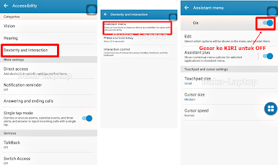 Cara Menonaktifkan Accessibility Menu Android