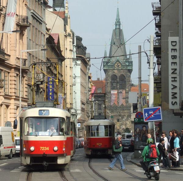 old tram prague street - photo #22