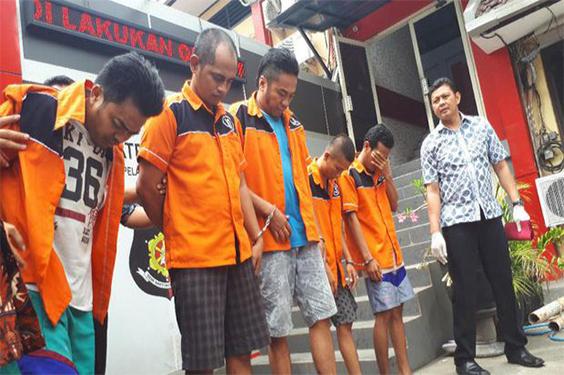 Lima Pelaku Penganiayaan Seorang Supir Taksi Telah Berhasil di Tangkap