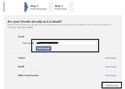 facebook account email added