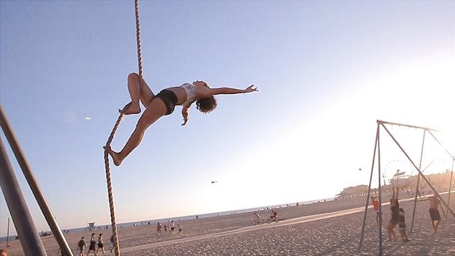 Praia Muscle Beach em Santa Mônica