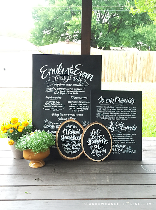 Emily and Evan's Wedding Signs