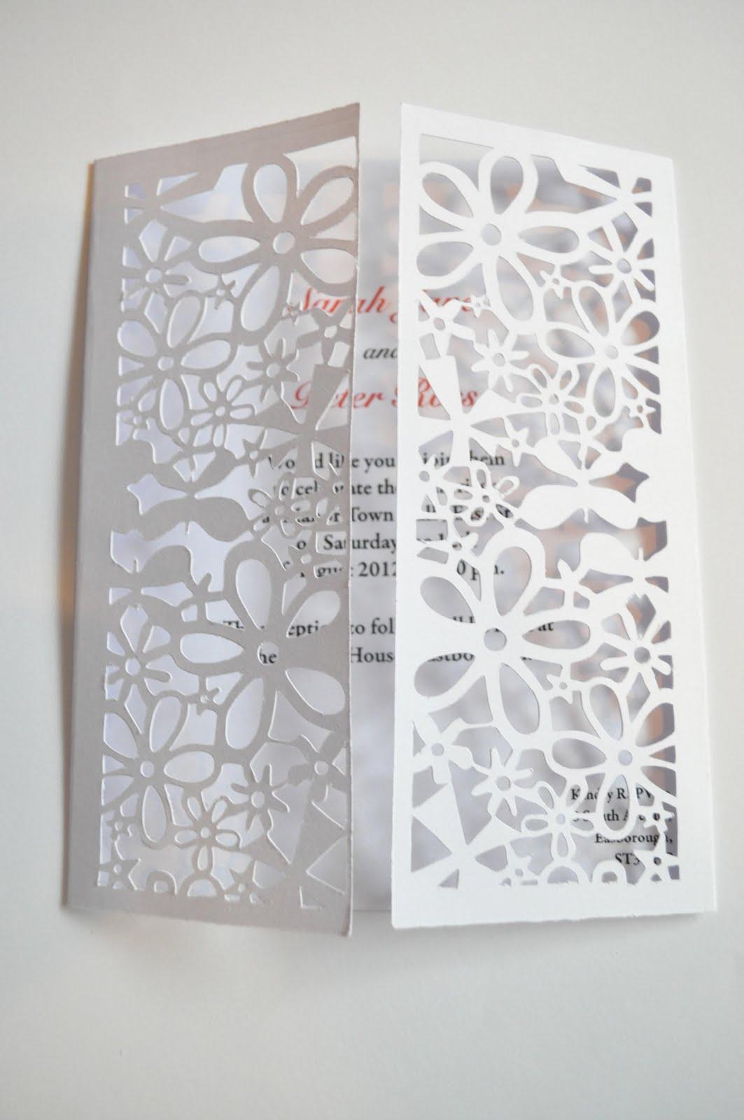 Sweet Pea Design Laser Cut Wedding Invitations