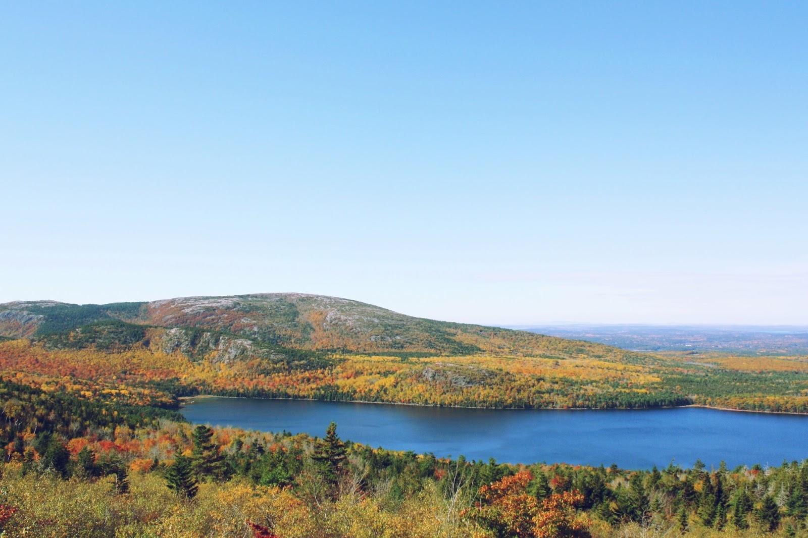 Acadia National Park autumn fall foliage