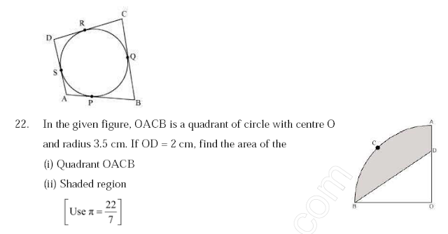CBSE  SAMPLE PAPER  FOR   Maths  class10