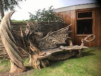 dragon tallado en madera