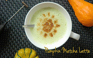 Pumpkin Matcha Latte from Steeped Tea