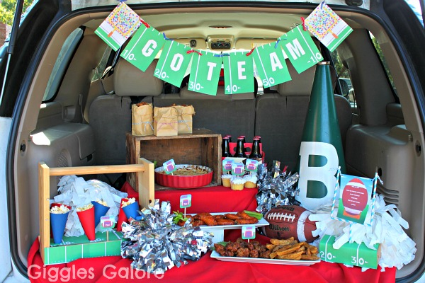 Game Day Tailgate Party from Piggy Bank Parties Blog