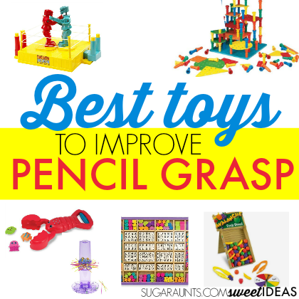 Best toys and ideas to help kids improve their pencil grasp