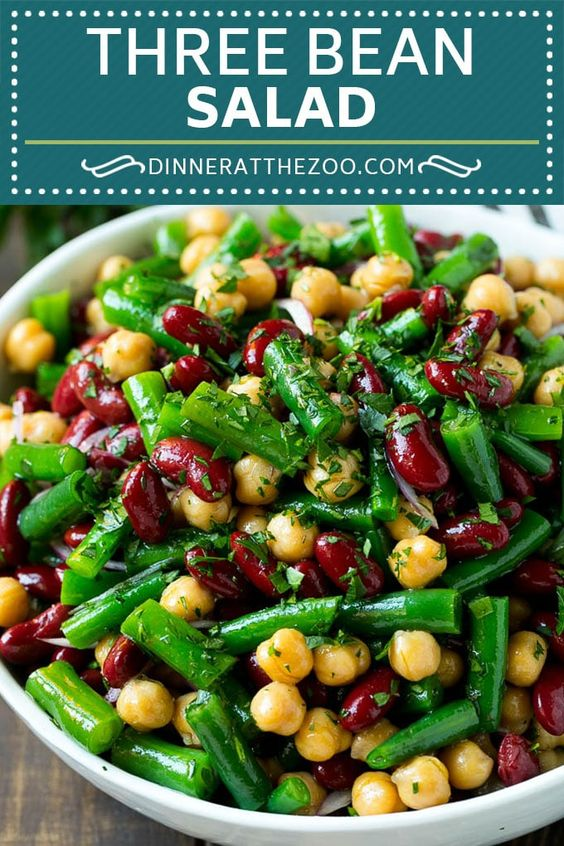THREE BEAN SALAD  #Three #bean #Salad #Vegan #vegetables #veganlover #Healthyrecipe #Vegetablessoup