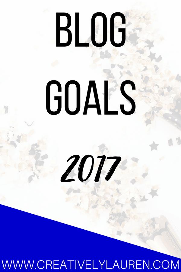 2017 Blog Goals