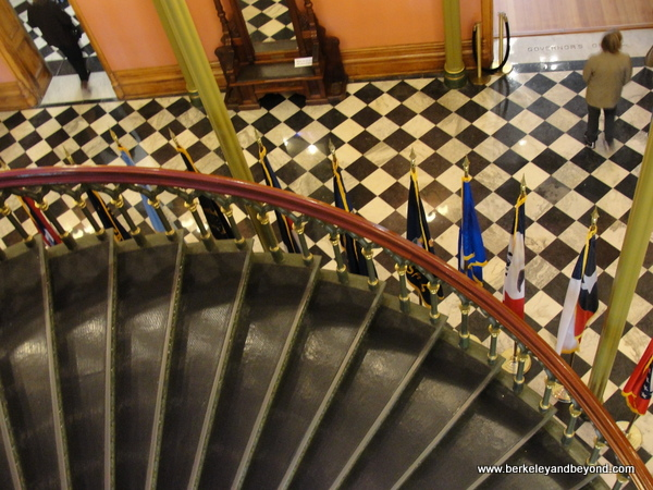 iron spiral staircase at Old State Capitol in Baton Rouge, Louisiana