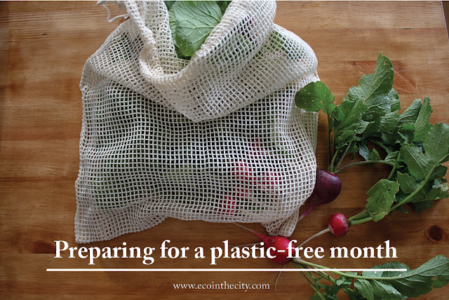 Preparing for a plastic-free month in the city