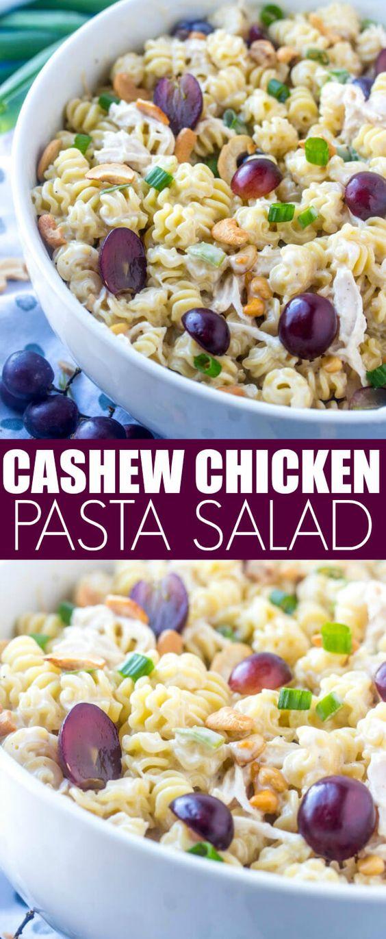 Chicken Cashew Pasta Salad