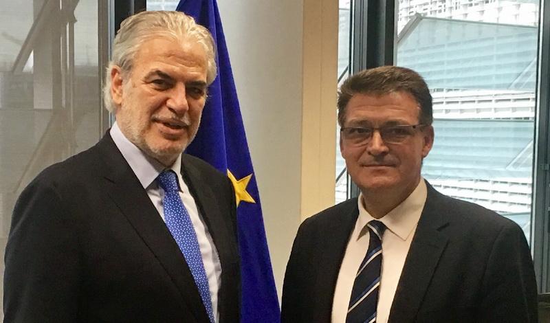 Συνάντηση του Αντιπεριφερειάρχη Έβρου με τον Επίτροπο Πολιτικής Προστασίας της Ε.Ε. για τις καταστροφές στη Σαμοθράκη