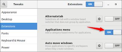 Aktifkan Menu Aplikasi Windows-Style
