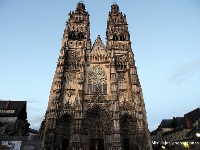 La catedral de Tours, Valle del Loira, Francia