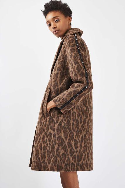 leopard studded coat,