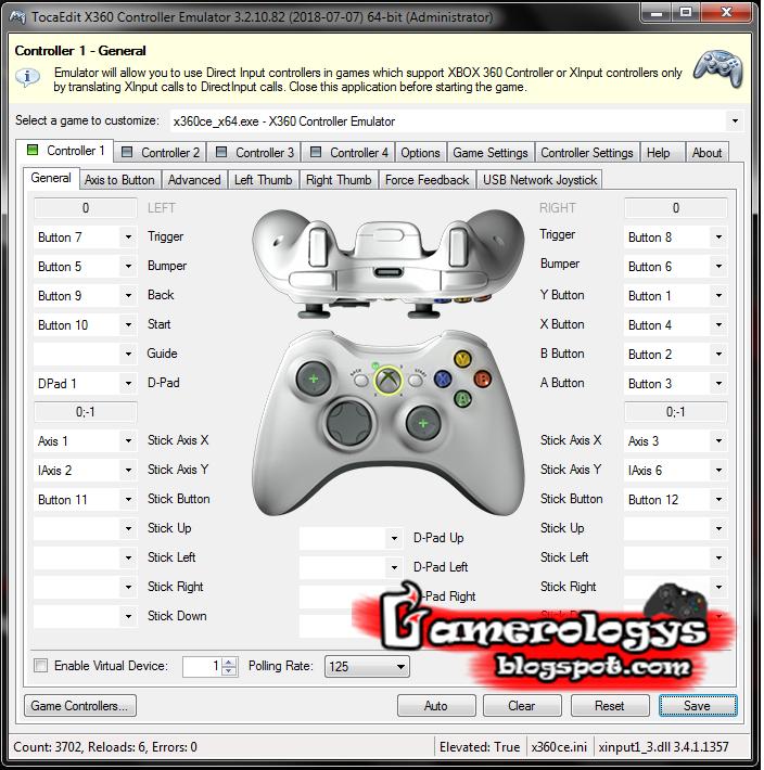 Cara Menggunakan Usb Joystick Menjadi Xbox Controller