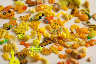 yellow TomToy Colorful I spy trinkets, Rainbow miniatures, Rainbow I spy bag filler, Colors I spy bottle, Color sorting activities, Color matching games