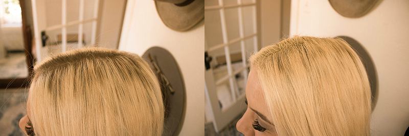 blonde root cover up, style edit hair care, dark roots
