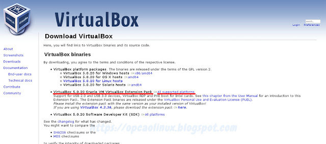 Instalando o Oracle VirtualBox no Ubuntu 14 04, 16 04 e