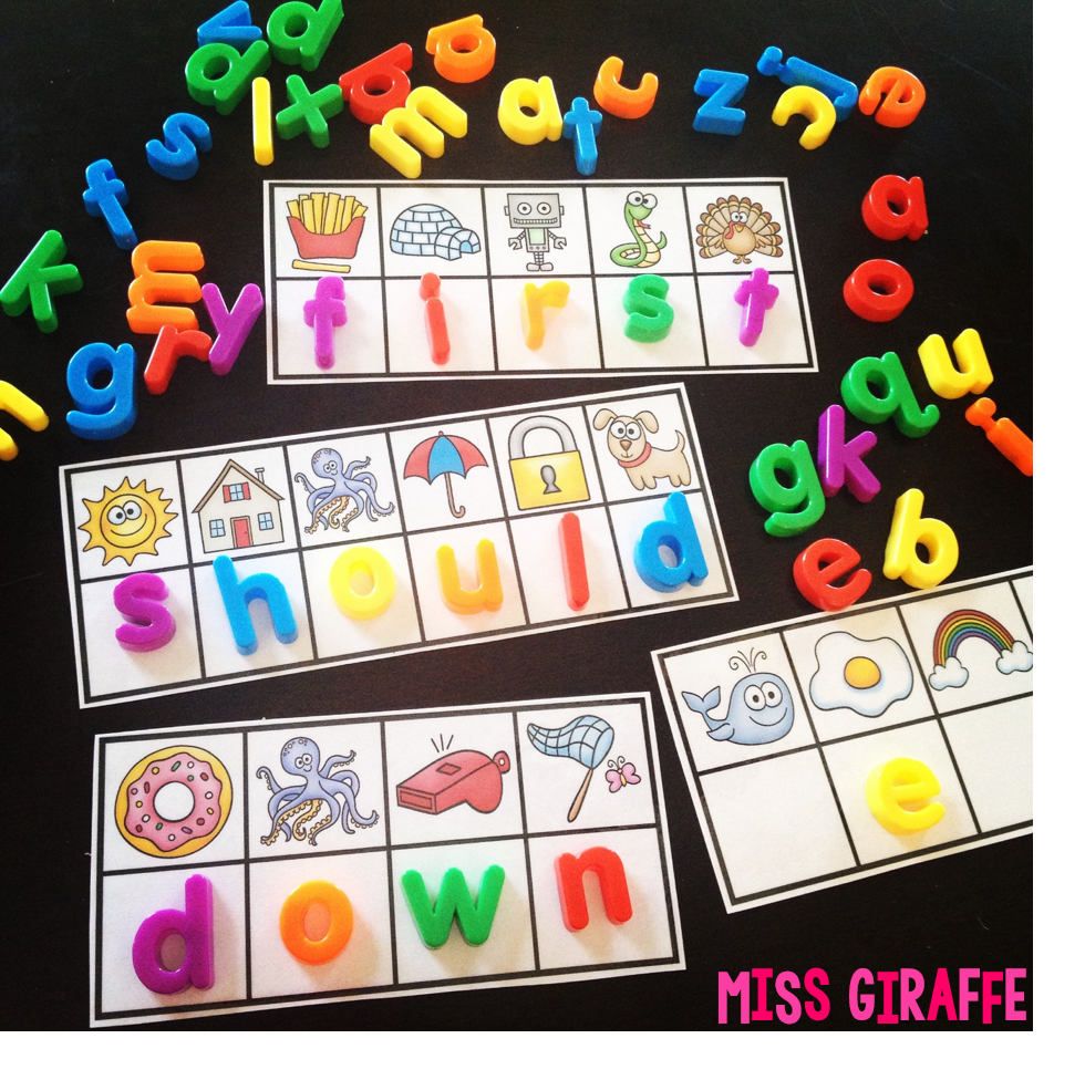 Letter Box Cover B Q: Miss Giraffe's Class: Sight Words Practice With Magnet Letters