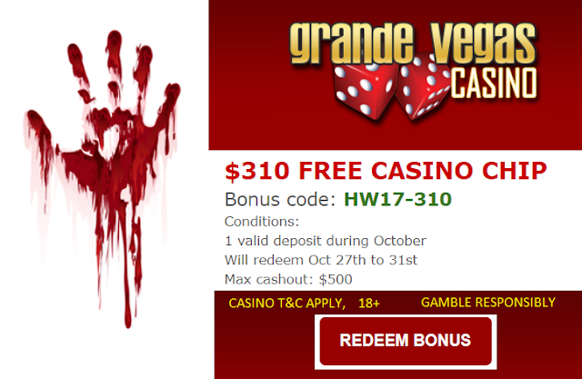 Want a $310 FREE CASINO CHIP for Halloween Weekend?