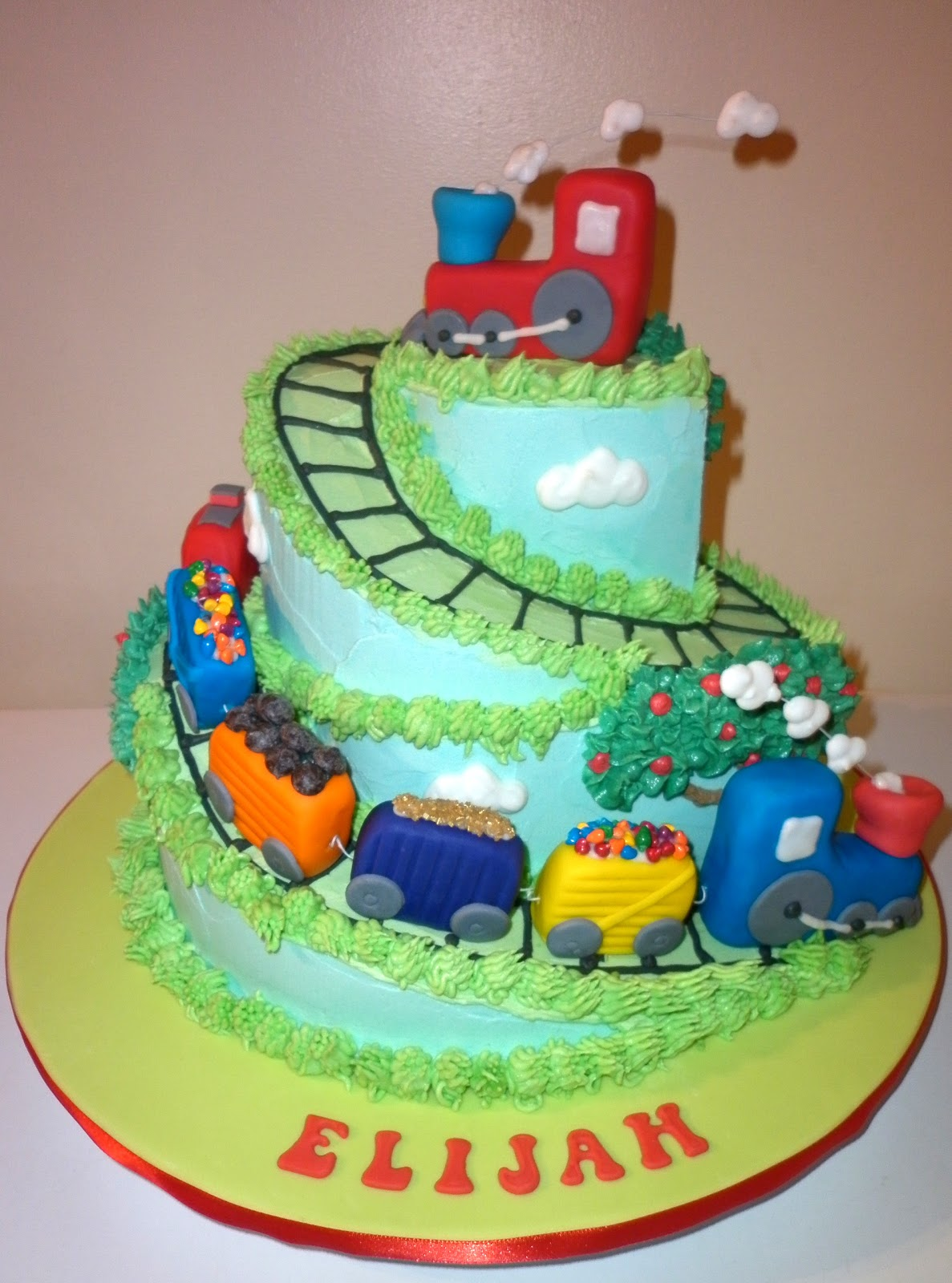 Caketopia Train Cake For Elijah