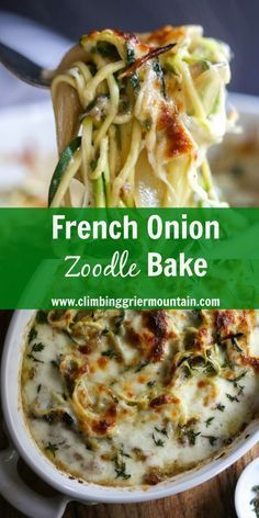 French Onion Zoodle Bake  #dinner #healthy #french #onion #zoodle #bake