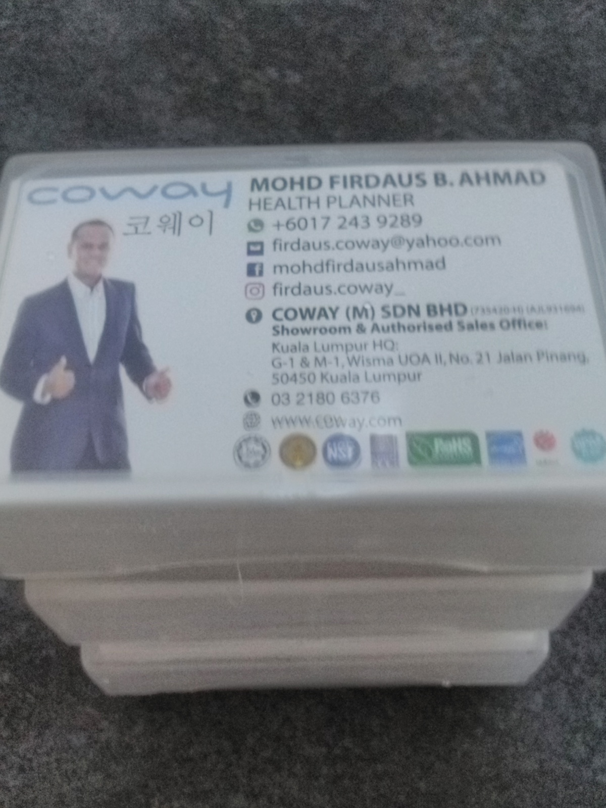 Business Card Coway