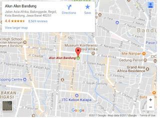 Alun alun kota bandung di google map