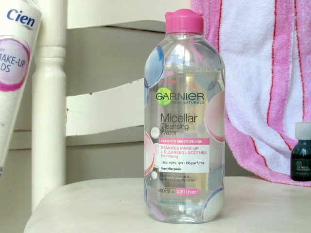 skin care routine, garnier micellar cleansing water