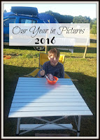 Boy sitting at an outside table, with cereal bowl, title text overlayed on top.