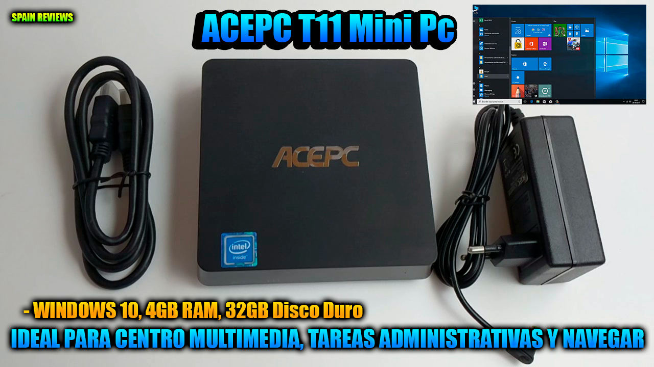 ACEPC T11 Mini Pc con Windows 10, 4GB RAM, 32GB Disco Duro