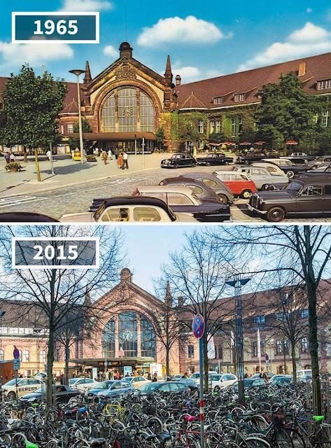 Antes y después Estación central de Osnabrück