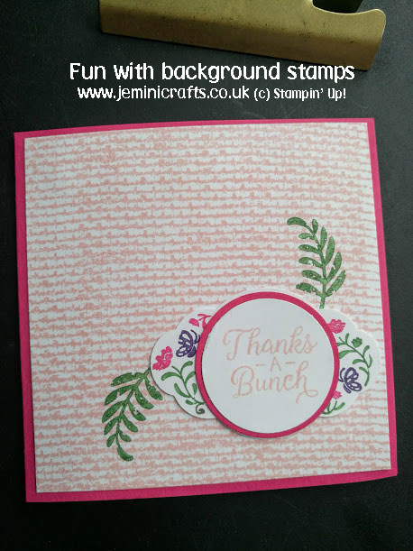 Background stamping with jeminicrafts.co.uk featuring Stampin' Up! products