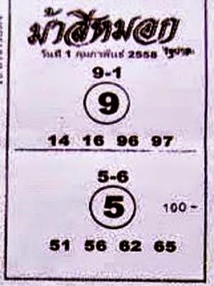 เลขม้าสีหมอก,หวยซองงวดนี้,ข่าวหวยงวดนี้,ข่าวหวยเด็ด,หวยเด็ดงวดนี้ ,เลขเด็ดงวดนี้,รวมหวยซอง หวยม้าสีหมอก 1/2/58