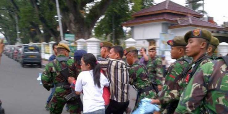 Miris,! Pria Keturunan Ini Tampar Anggota TNI