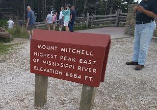 Mt. Mitchell Summit Sign '15