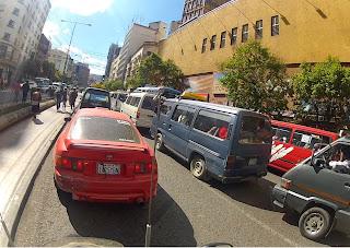 Saindo para Copacabana. Congestionamento.