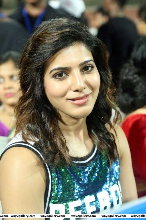 Samantha Ruth Prabhu looked pretty at the Natchathira cricket tournament