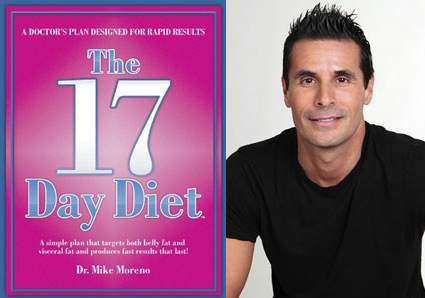 "The following is a book review for the book ""The 17 Day Diet"" by Dr Mike  Moreno."