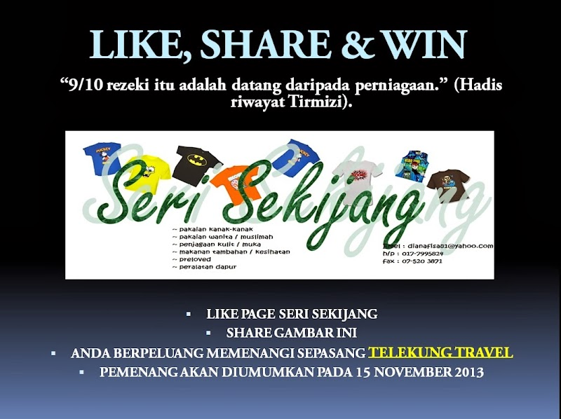 GA: LIKE, SHARE AND WIN