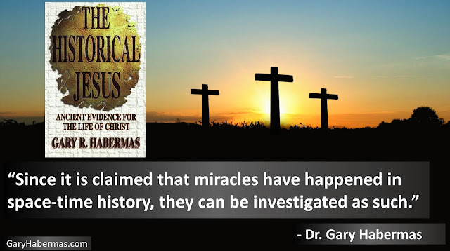 "Quote from Gary Habermas from his book ""The Historical Jesus: Ancient Evidence For The Life of Christ""- ""Since it is claimed that miracles have happened in space-time history, they can be investigated as such."" #History #Jesus #Christianity #Evidence #Religion #God"