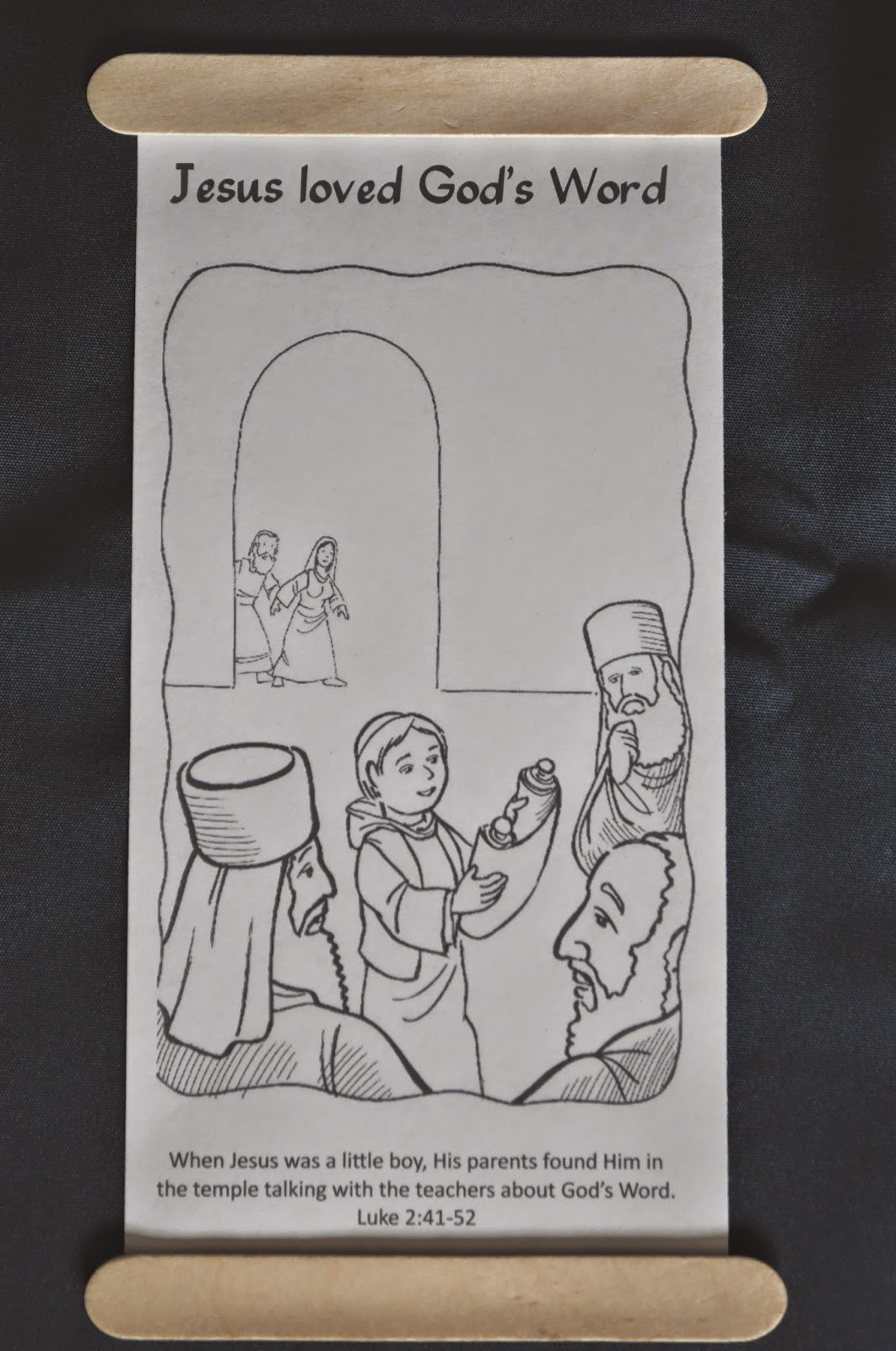 Faith sprouts the boy jesus in the temple for Jesus as a boy in the temple coloring page
